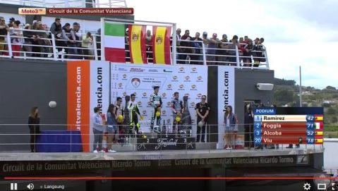Moto3-podium